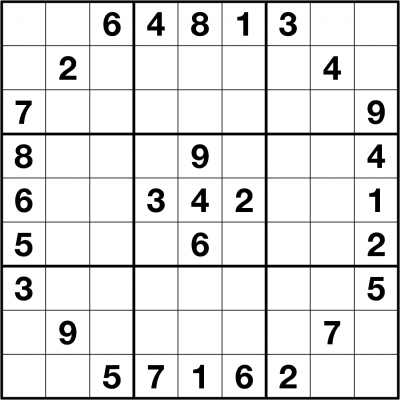 Sudoku game for boost brain power